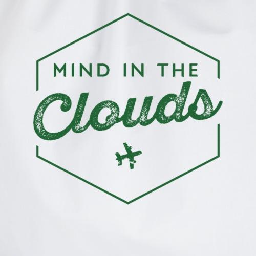 Mit den Gedanken in den Wolken sein - Turnbeutel