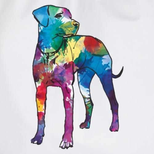 Labrador Hund Hunde bunte Silhouette - Turnbeutel