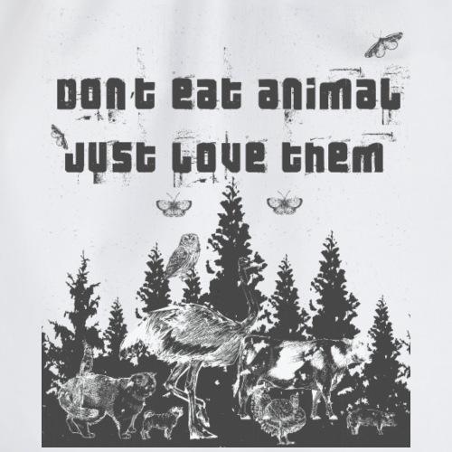 Tierliebhaber Tierliebe Vegetarisch Vegan - Turnbeutel