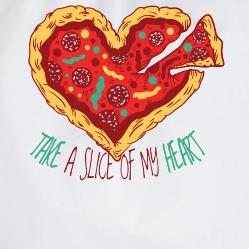Nehme ein Stück meines Herzens Pizzastück Pizza - Turnbeutel