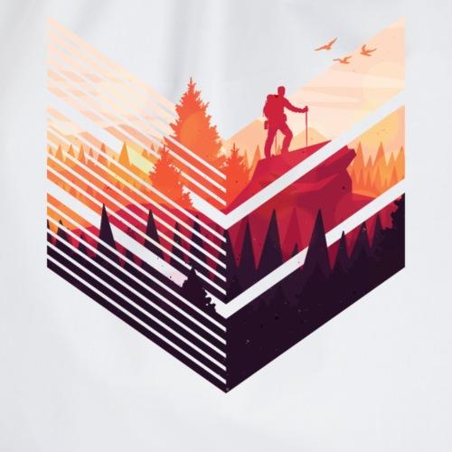Geometrischer Wald bunter Wanderer - Turnbeutel