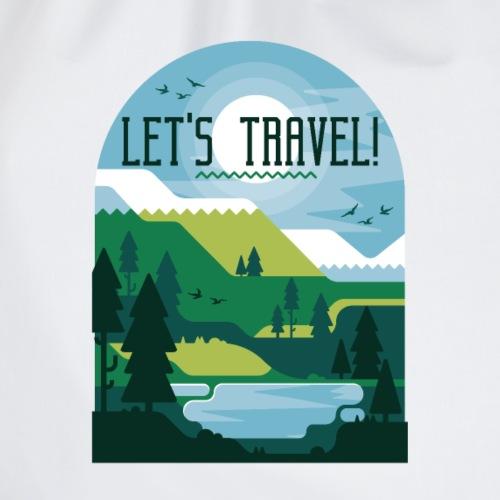 Lass uns verreisen Reise Urlaub Ferien - Turnbeutel