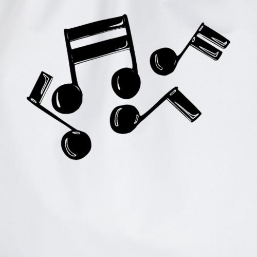 Musik Symbol Note Noten musiknoten spielen - Turnbeutel