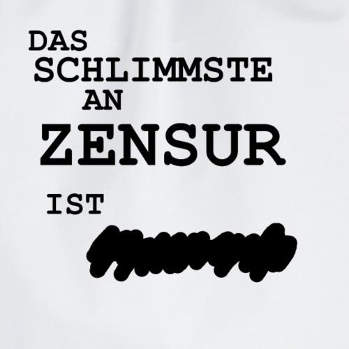 Zensur Meinungsfreiheit Politik Tshirt - Turnbeutel