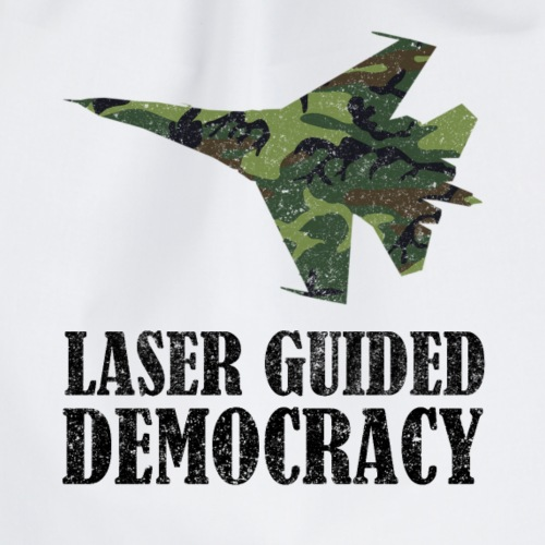 Laser Guided Democracy Politic Jet World Tshirt - Turnbeutel