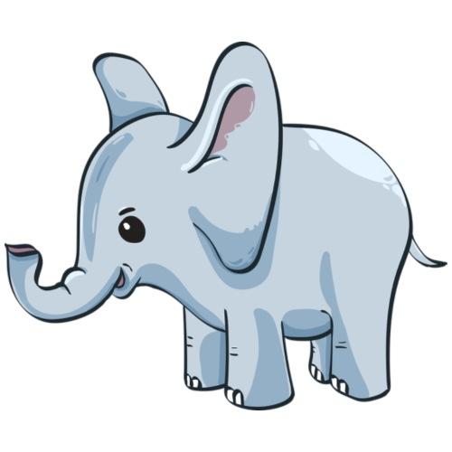 Kindershirt bedrucken günstig Elefant - Turnbeutel