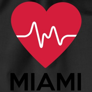 heart Miami - Drawstring Bag
