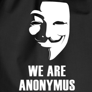 anonymus we are mask demonstration white revolutio - Drawstring Bag