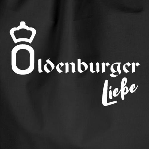 Oldenburger Liebe in weiss - Turnbeutel