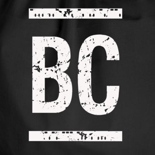 Burning Codes BC monogram WHITE - Drawstring Bag