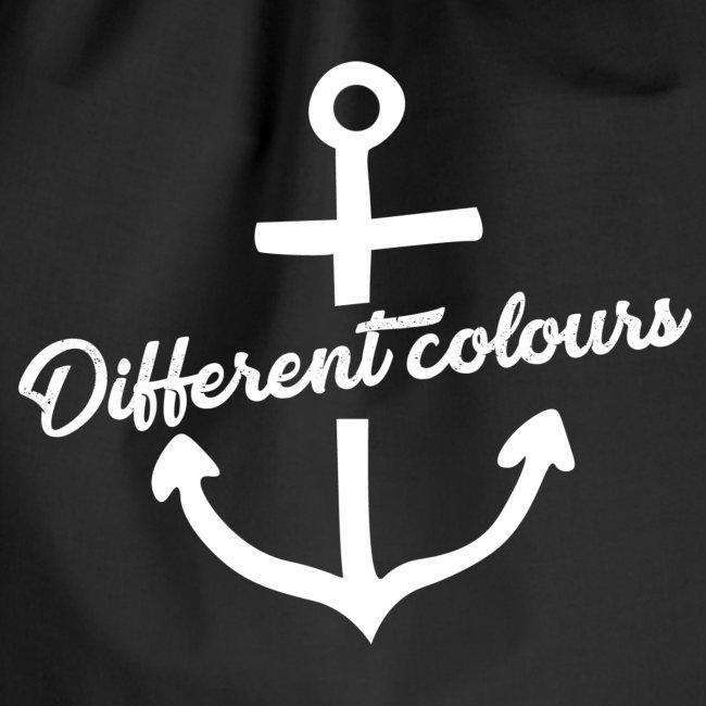 Different Colours White Logo