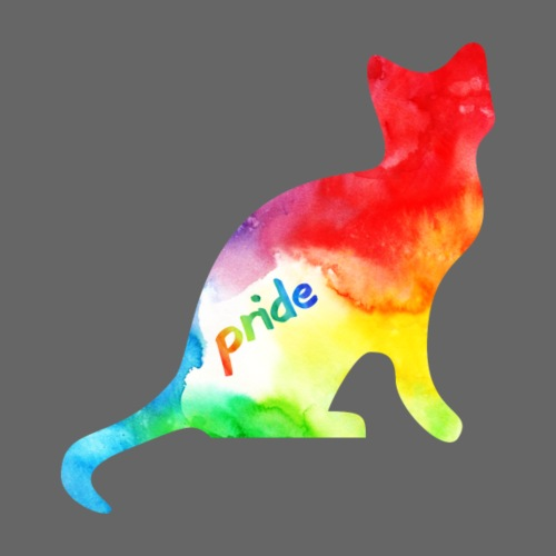Rainbow Watercolour Pride Kitty - Drawstring Bag