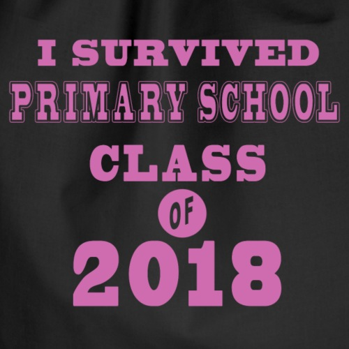 I survived primary school class of 2018 pink - Turnbeutel
