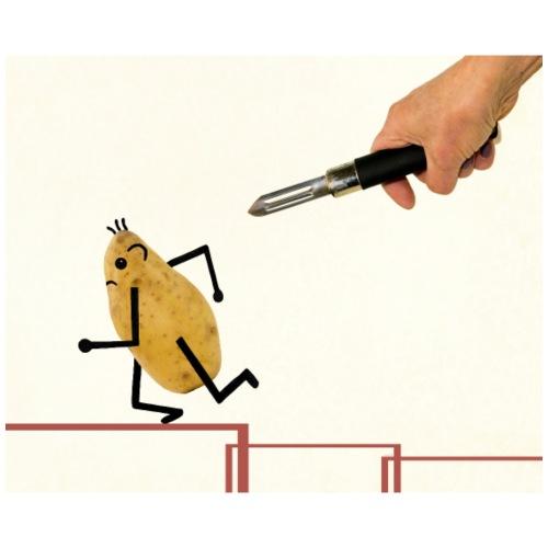 Pomme de terre fuyant l'épluche légumes. - Sac de sport léger
