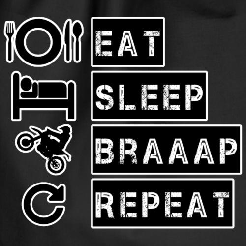 Eat Sleep Braaap Repeat - Gymnastikpåse