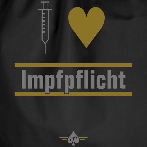 I ♥ Impfpflicht - Turnbeutel