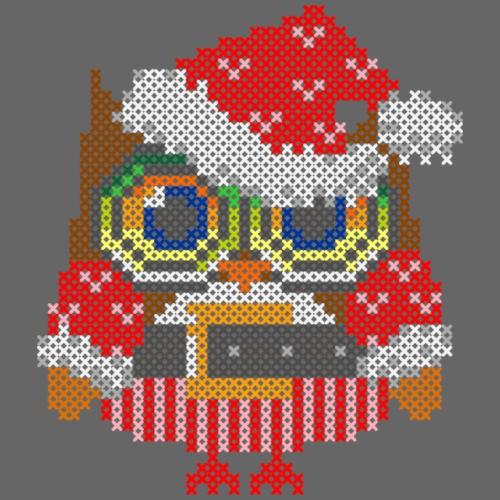 Eule Weihnachtsmann - Turnbeutel