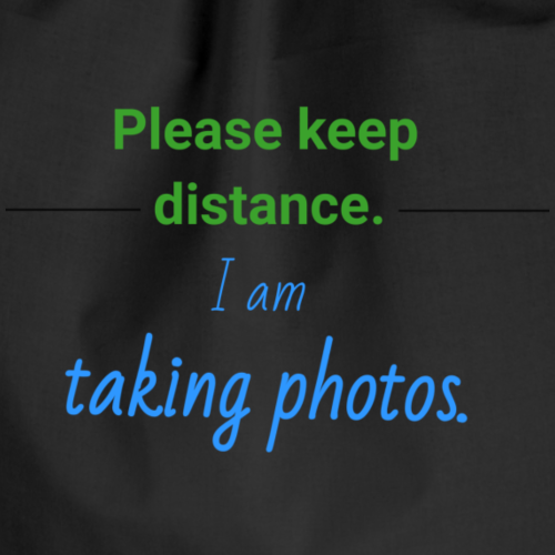 Please keep distance. - Turnbeutel