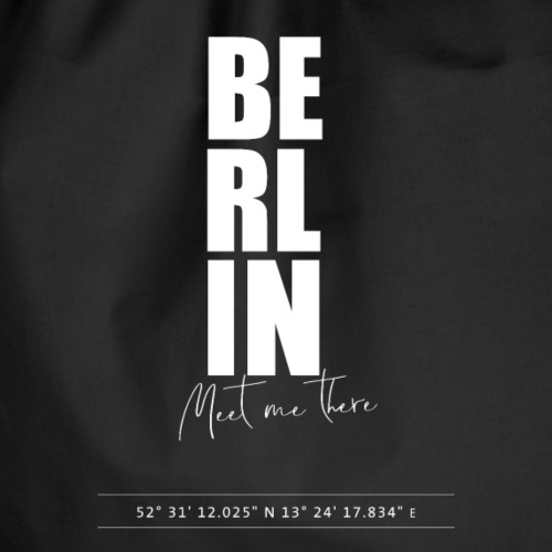 Berlin Meet me there - Travelshirt - Turnbeutel