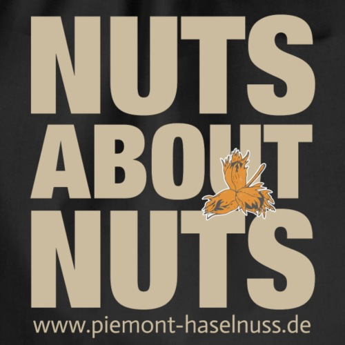 nuts about nuts neg - Turnbeutel