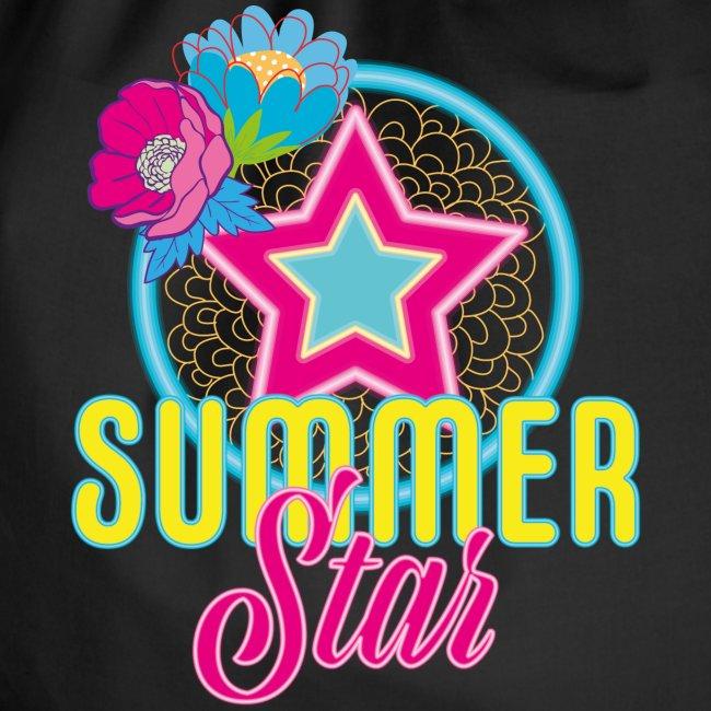 Hipster Turnbeutel Rucksack Flower Stars