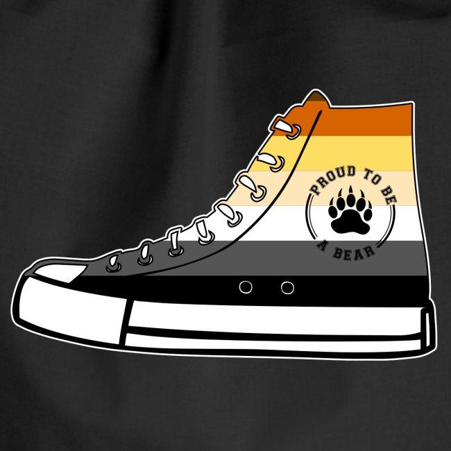 Bear Sneaker LGBT Gay Pride Fetish Queer CSD   Turnbeutel
