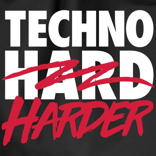 Techno harder - Drawstring Bag