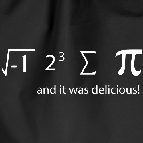 it was delicious matheformel lustig - Turnbeutel