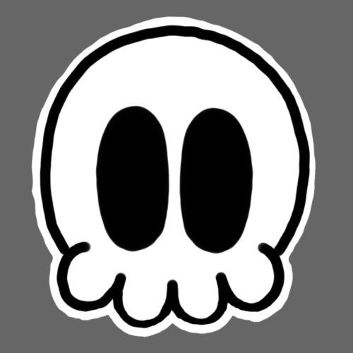 sleepyfin skull - Drawstring Bag
