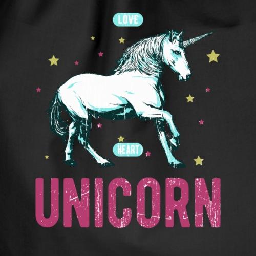 Einhorn Unicorn Pferd Sterne Glitzer T-Shirt - Drawstring Bag