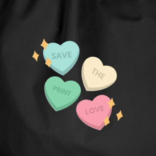 Save Print Love - Sacca sportiva