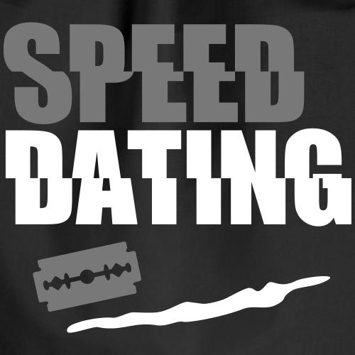 Speedating witzige Drogen Sprüche Drugs Wortspiele - Turnbeutel