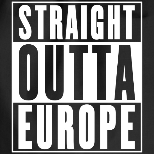 Straight Outta Europe - Drawstring Bag