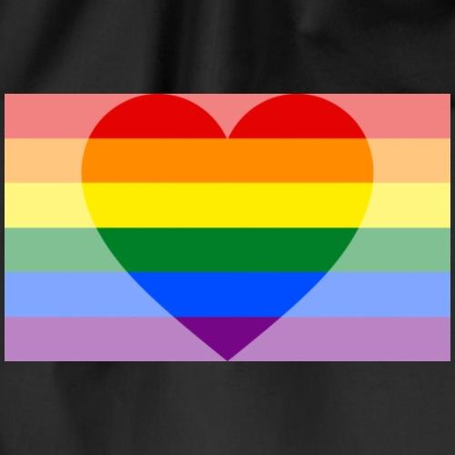 Pride heart - Gymnastikpåse