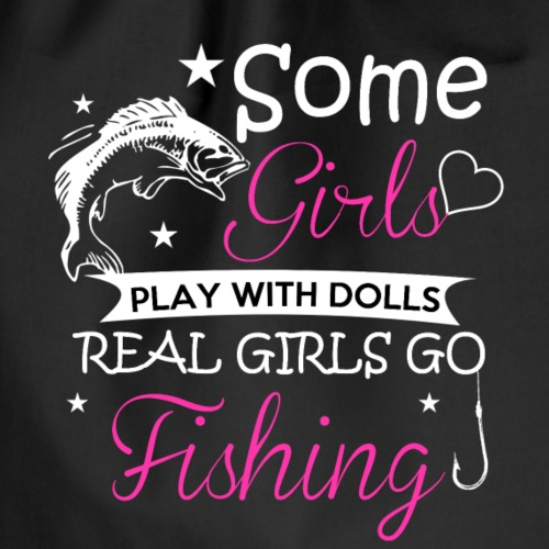 FISHING GIRLS - Drawstring Bag