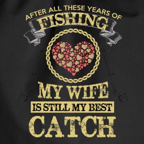 FISHING WIFE - Drawstring Bag