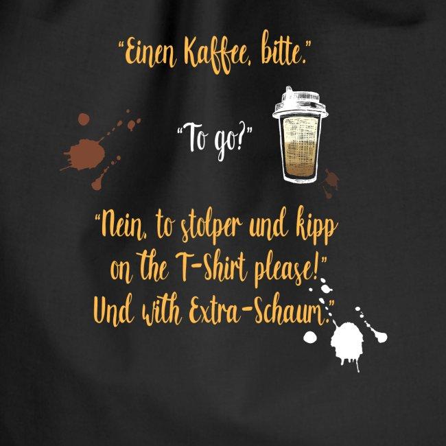 Ein witziges Kaffee to go Design als Geschenk