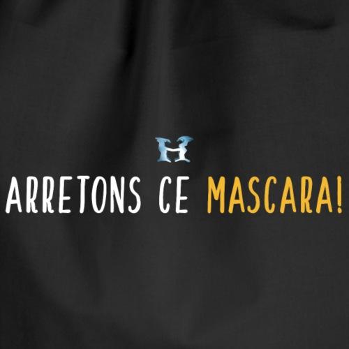 Arretons Ce Mascara - Logo - Blanc Jaune - Sac de sport léger