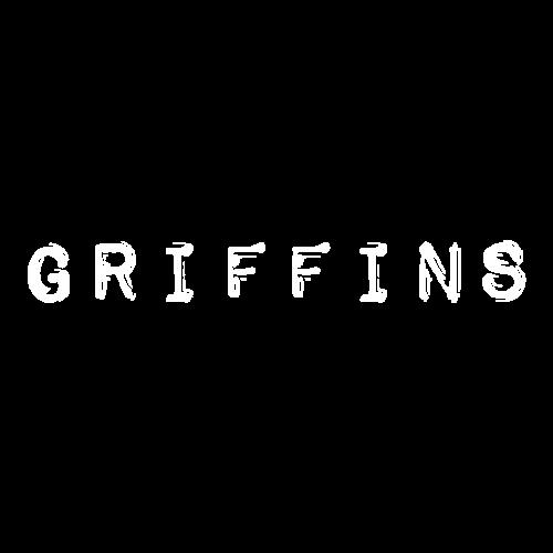 Griffins text vit - Gymnastikpåse