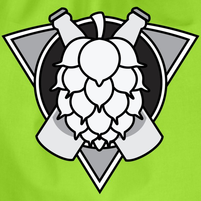 Mighty Hops Logo Black and white