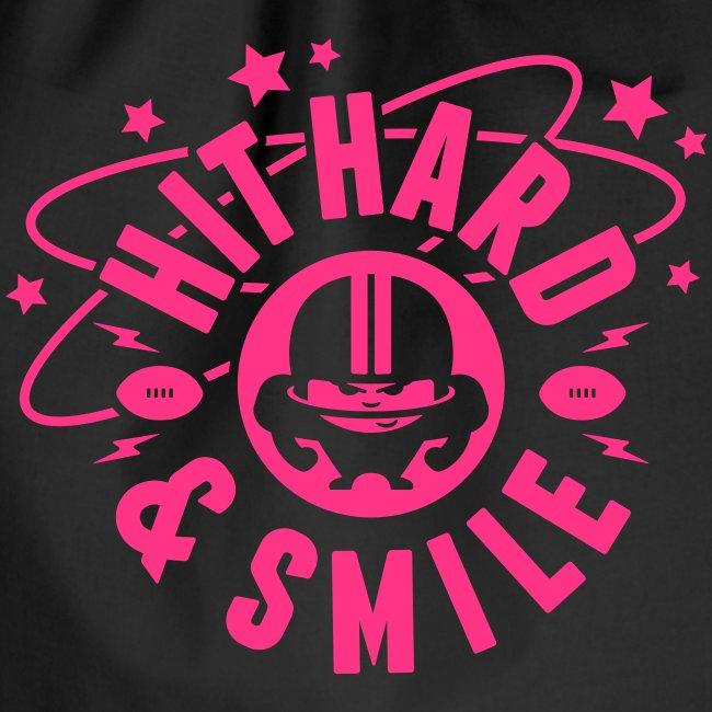 HIT HARD & SMILE PINK