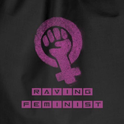 Raving Feminist - Drawstring Bag