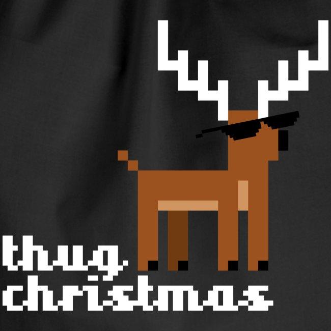 Christmas Xmas Deer Pixel Funny