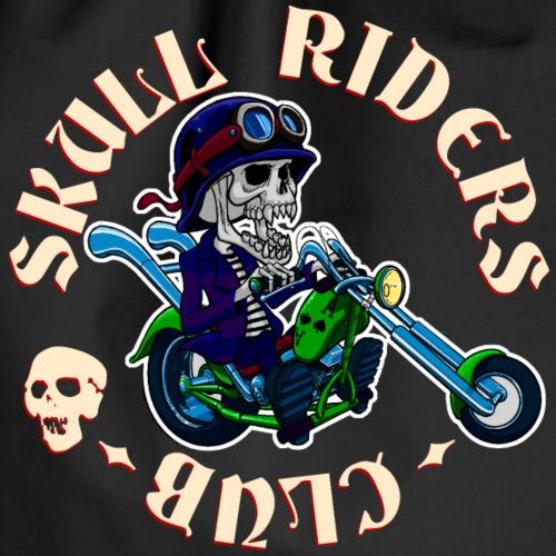 riders skull club dark background 2 - Mochila saco