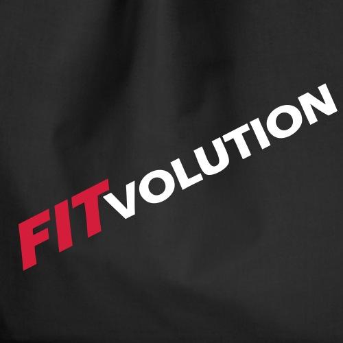 Großes, weißes Fitvolution-Logo