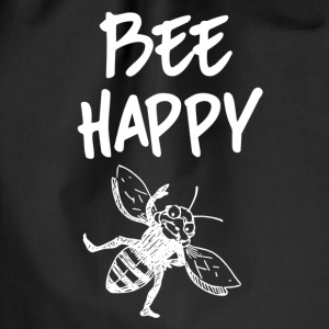 ++ ++ Bee Happy - Drawstring Bag