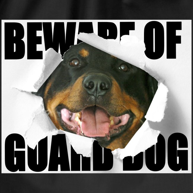 beware of guard dog