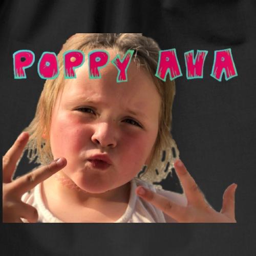 Poppy Ava pose - Drawstring Bag