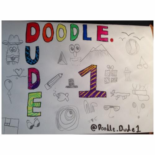 Classic doodle dude - Drawstring Bag