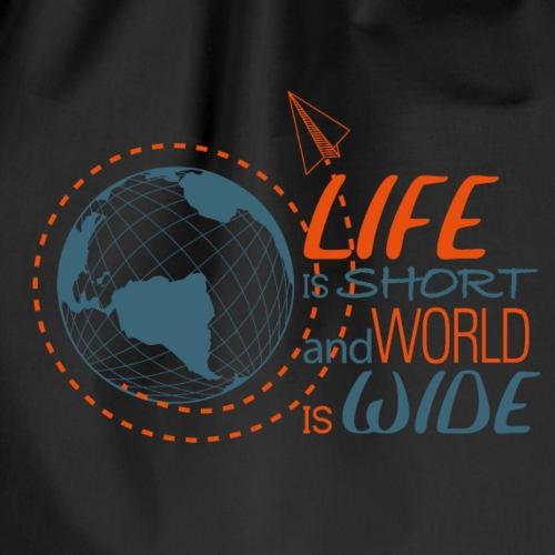 world LIFE neg - Sacca sportiva
